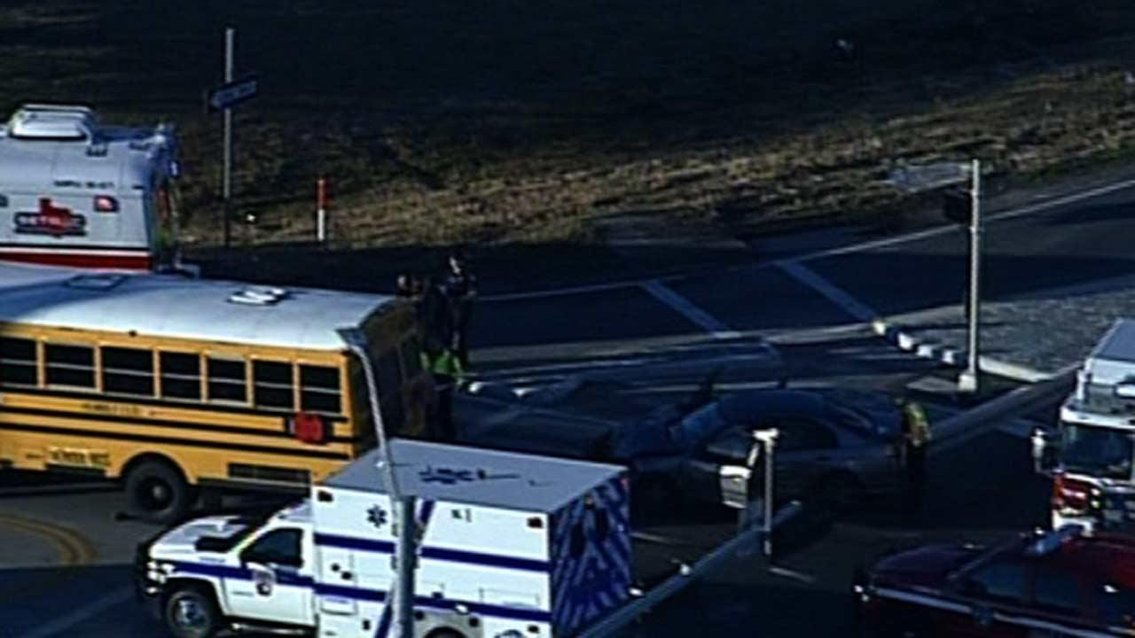 Humble ISD school bus involved in accident in northeast Harris County