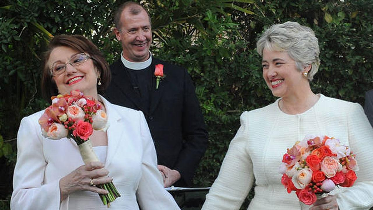 Houston Mayor Annise Parker married her long-time partner, Kathy Hubbard, in a private ceremony in California.