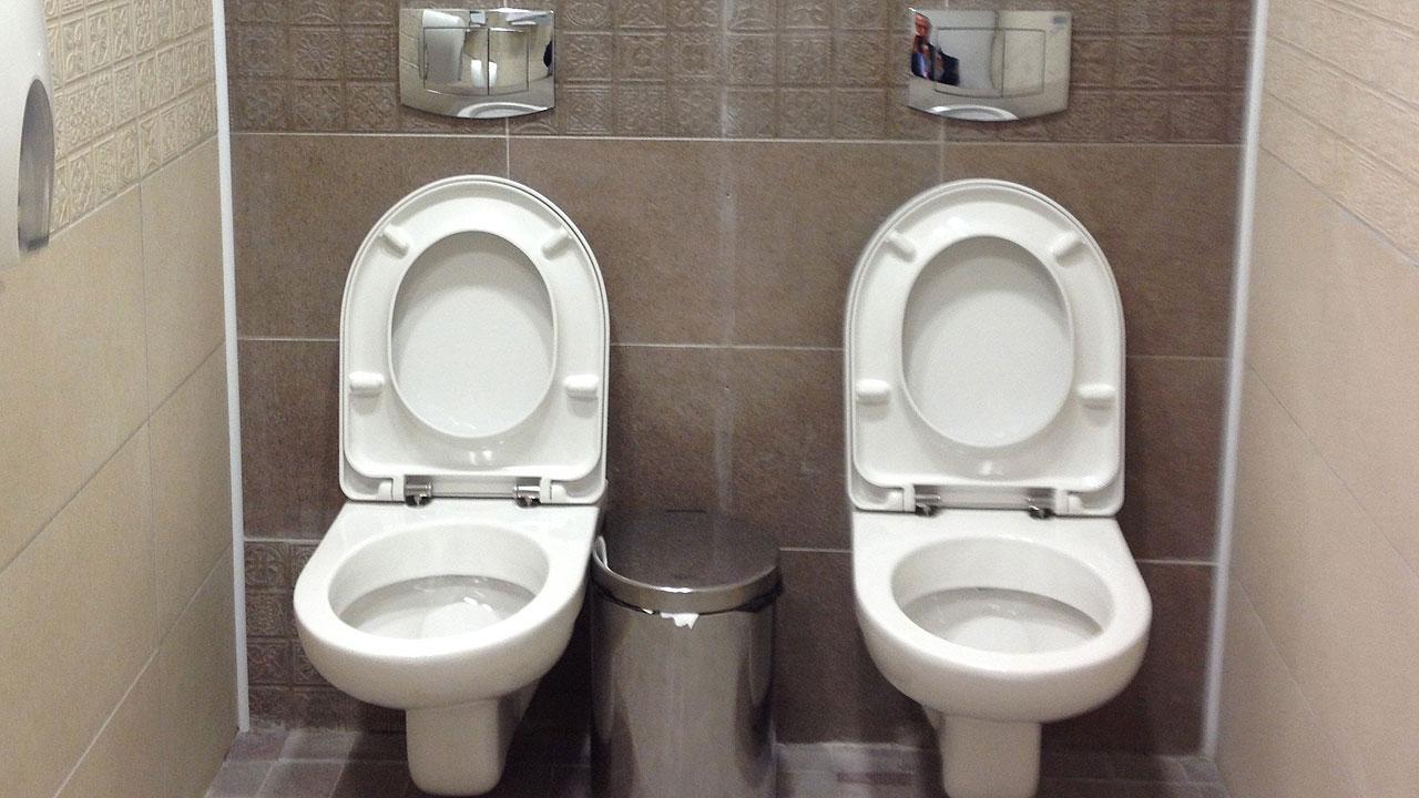 Twin toilet in Sochi