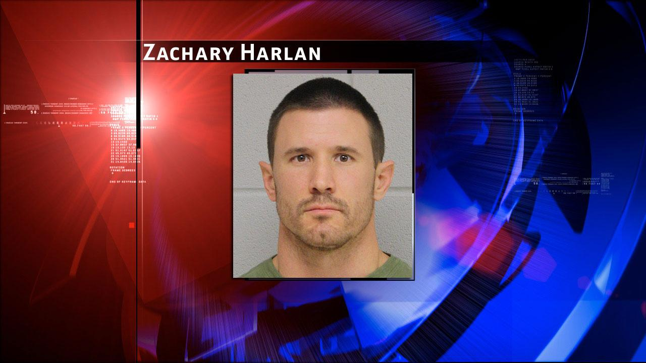 Zachary Burton Harlan, 35, is charged with improper relationship with a student