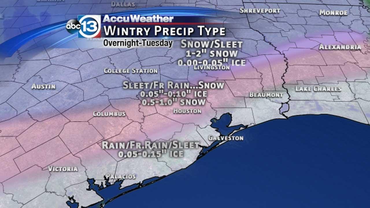 These are photos of what to expect as another system moves into southeast Texas