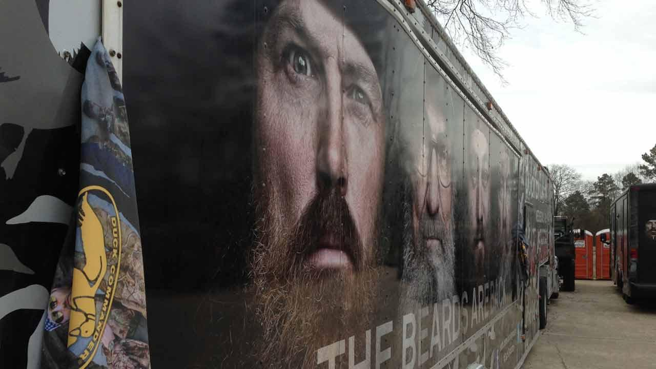 Fans come to the world headquarters of Duck and Buck Commander in Monroe, Lousiana to check out the merchandise and hopefully chat with the reality stars.ABC13/Deborah Wrigley