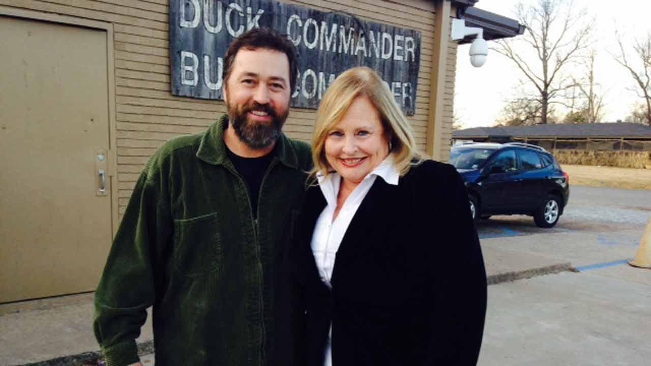 Alan Robertson and Deborah Wrigley outside the headquarters. <span class=meta>(ABC13&#47;Matt Black)</span>