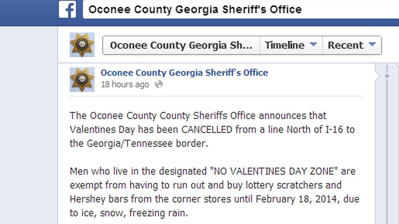 Facebook post cancels Valentines Day