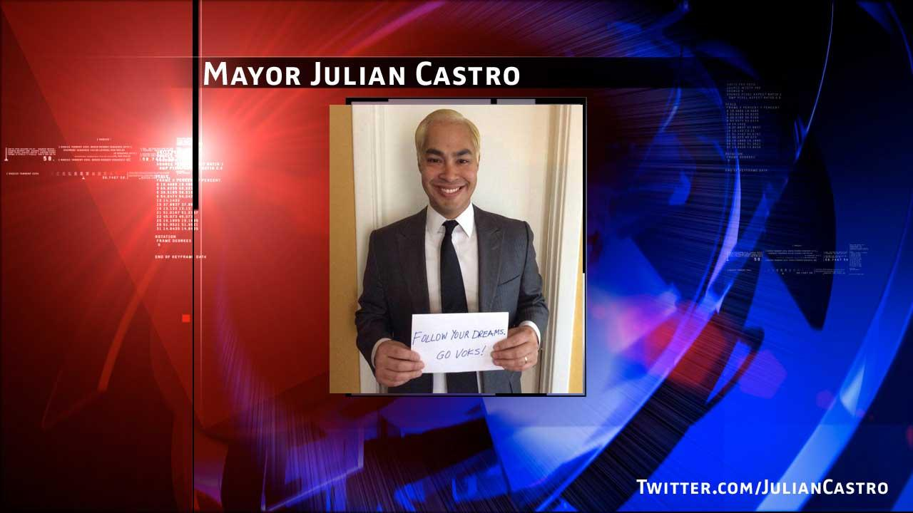 San Antonio Mayor Julian Castro doesnt always go blonde, but when he does, its in support of kids
