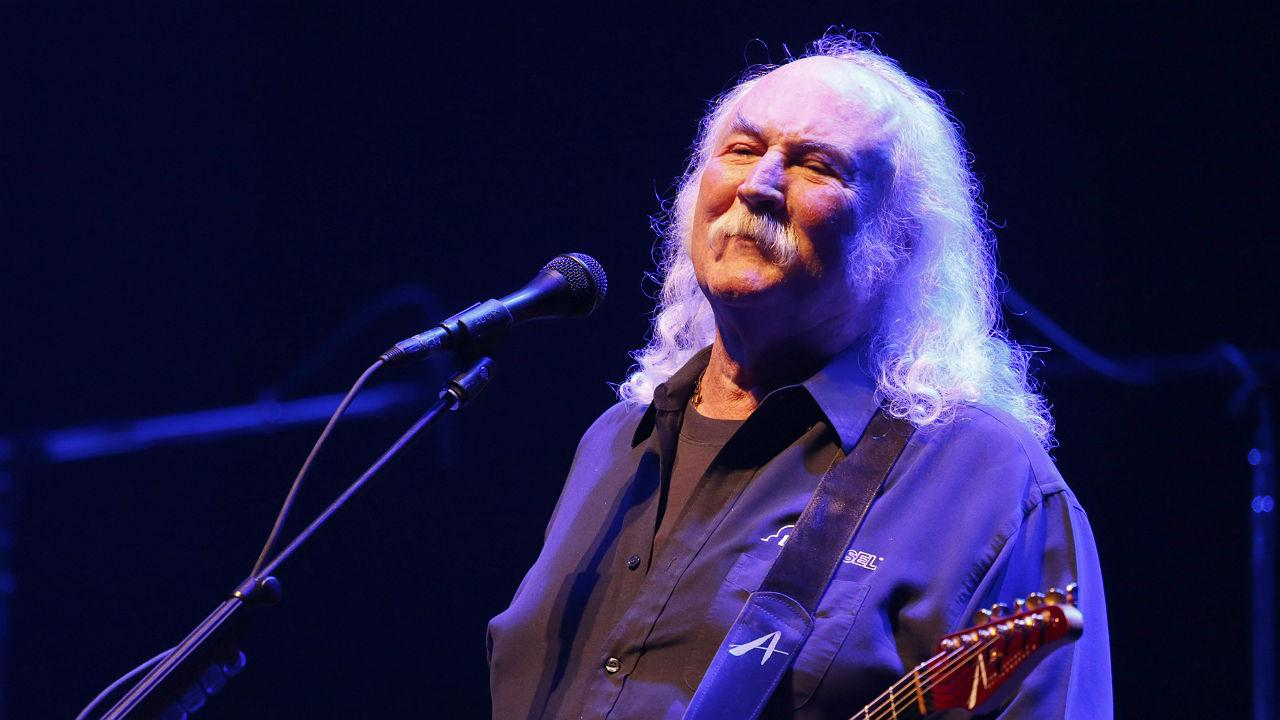 David Crosby performs onstage