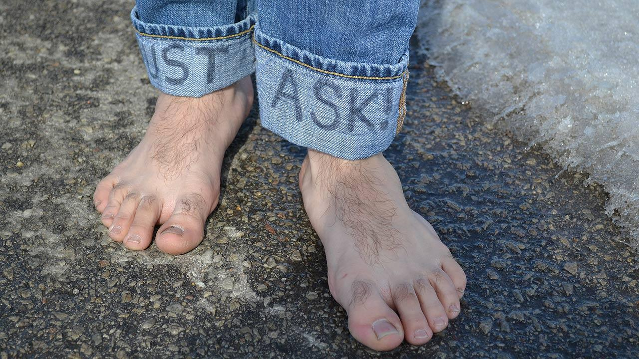 Going barefoot for charity