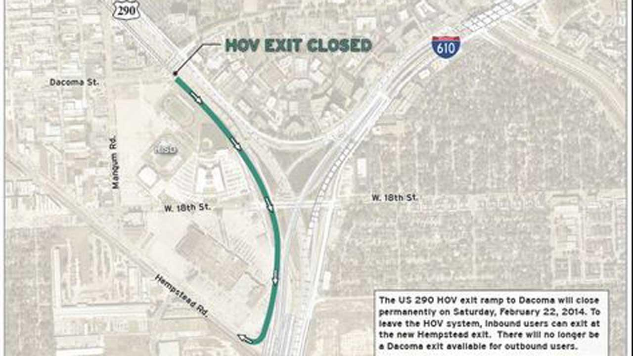 HOV ramp closure