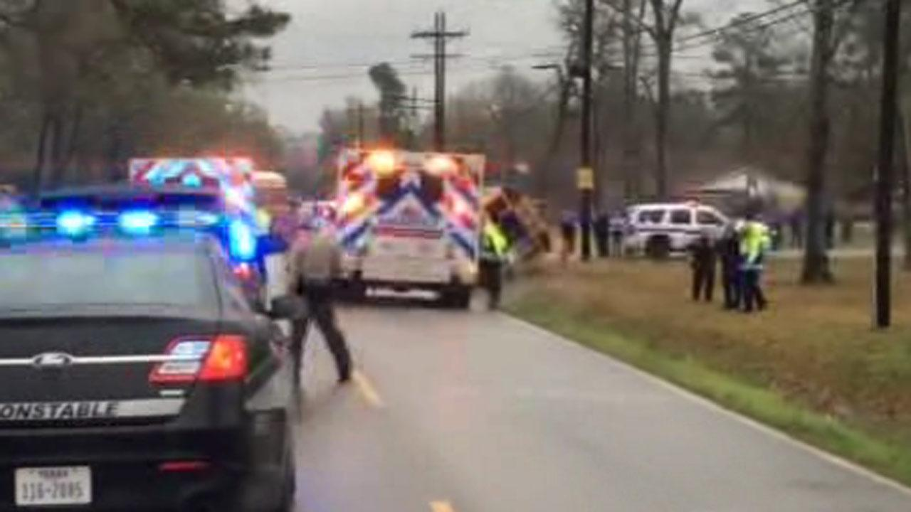 At least four people were injured in a school bus accident in Porter.