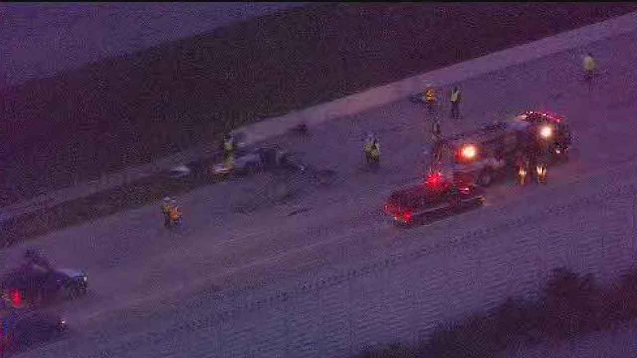 SkyEye13 HD flies over a fatal wrong-way dump truck accident on Highway 59 in Beasley