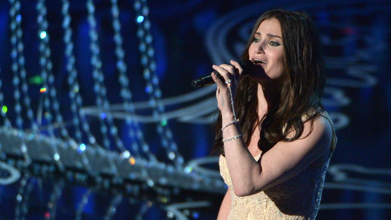 Idina Menzel performs on stage during the Oscars
