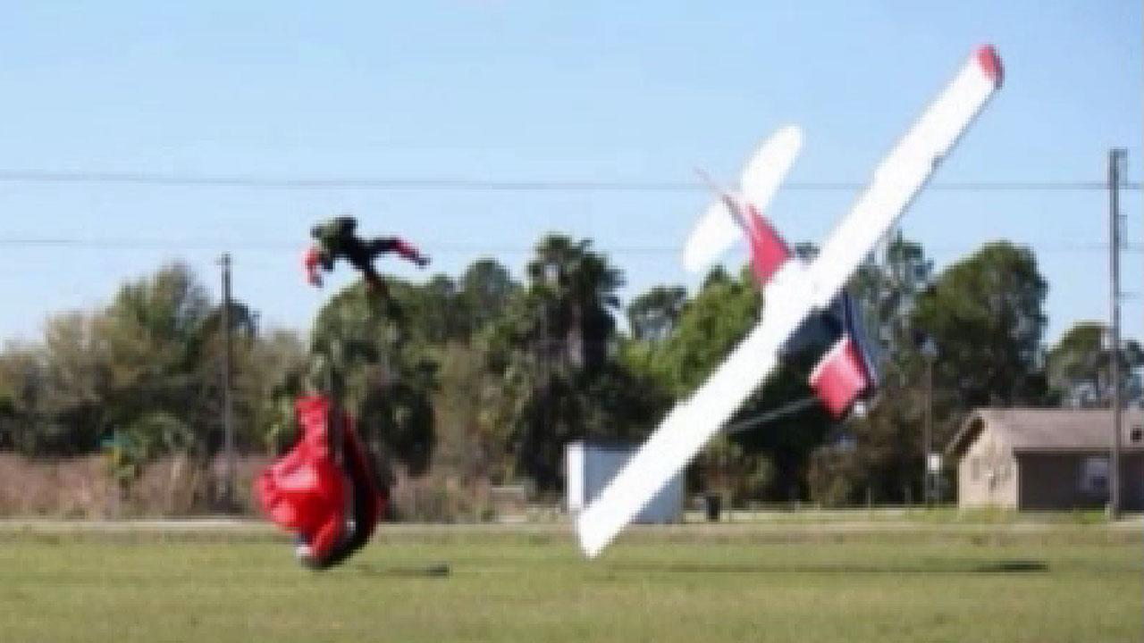 Skydiver, pilot suffer only minor injuries after bizarre midair wreck in Florida
