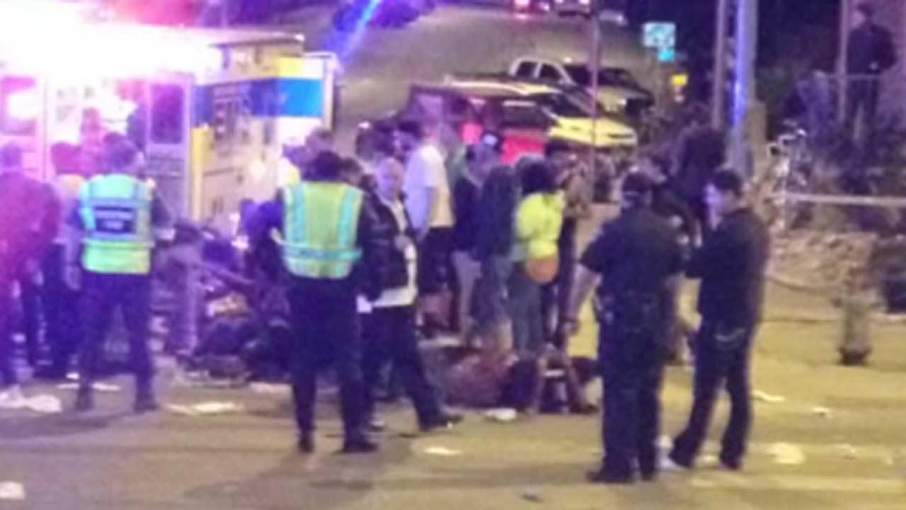 Police say a man and woman have been killed after a drunken driver fleeing from police crashed through barricades set up for the South By Southwest festival and struck the pair and others on a crowded street.