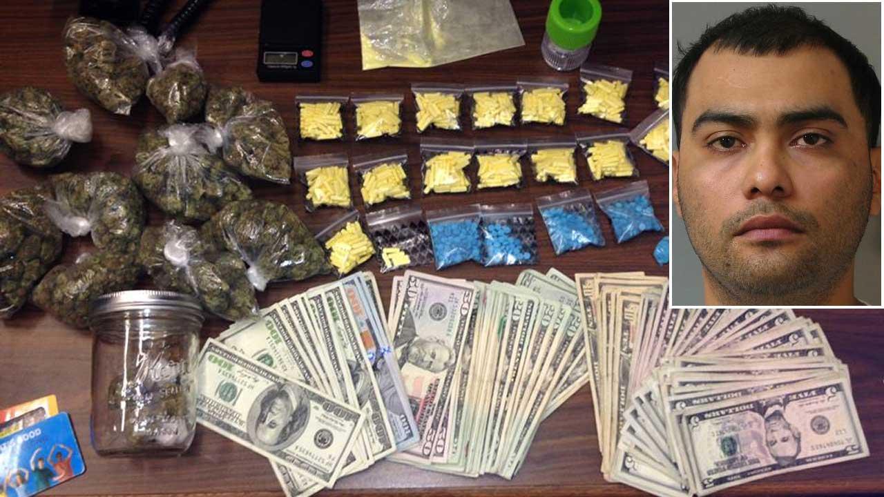 Traffic stop drug bust
