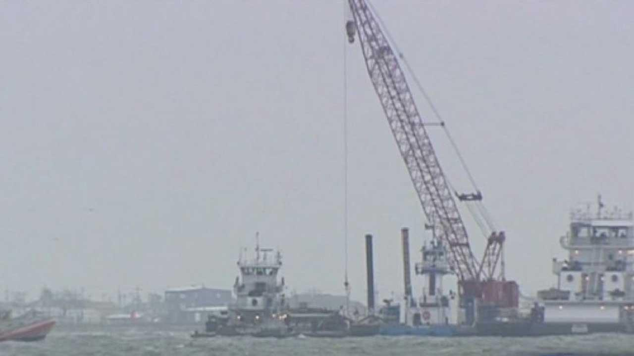 Images from the accident in the Houston Ship Channel that sent oil spilling into the water