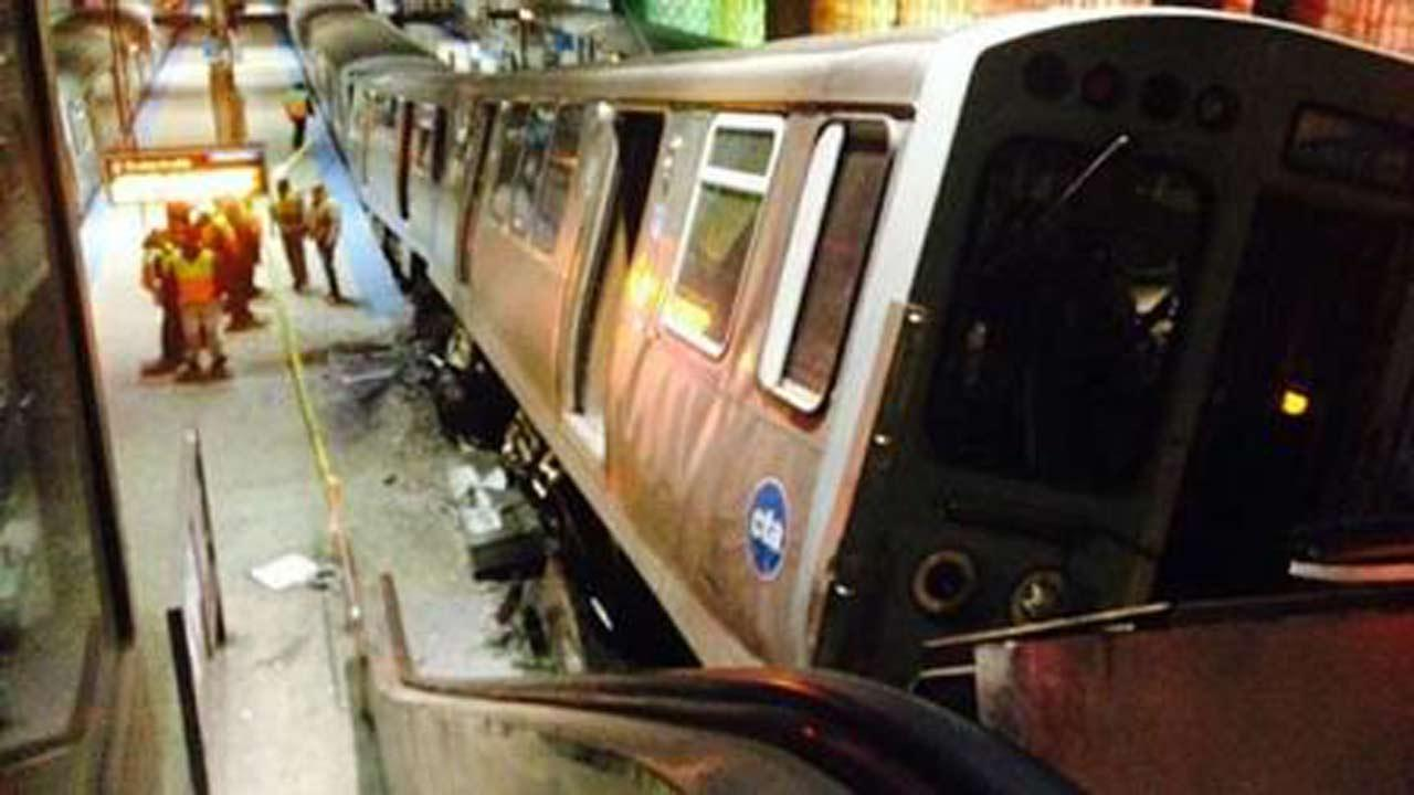 Police say 32 people were injured when a CTA Blue Line train derailed at the OHare station early Monday.