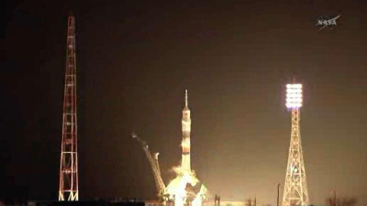 A Russian rocket blasted off to the International Space Station.