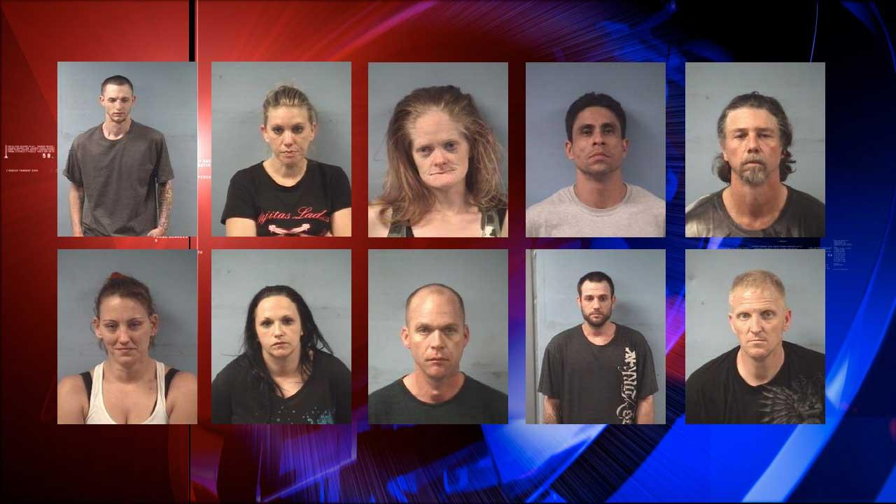 Friendswood police arrest dozen for crystal meth