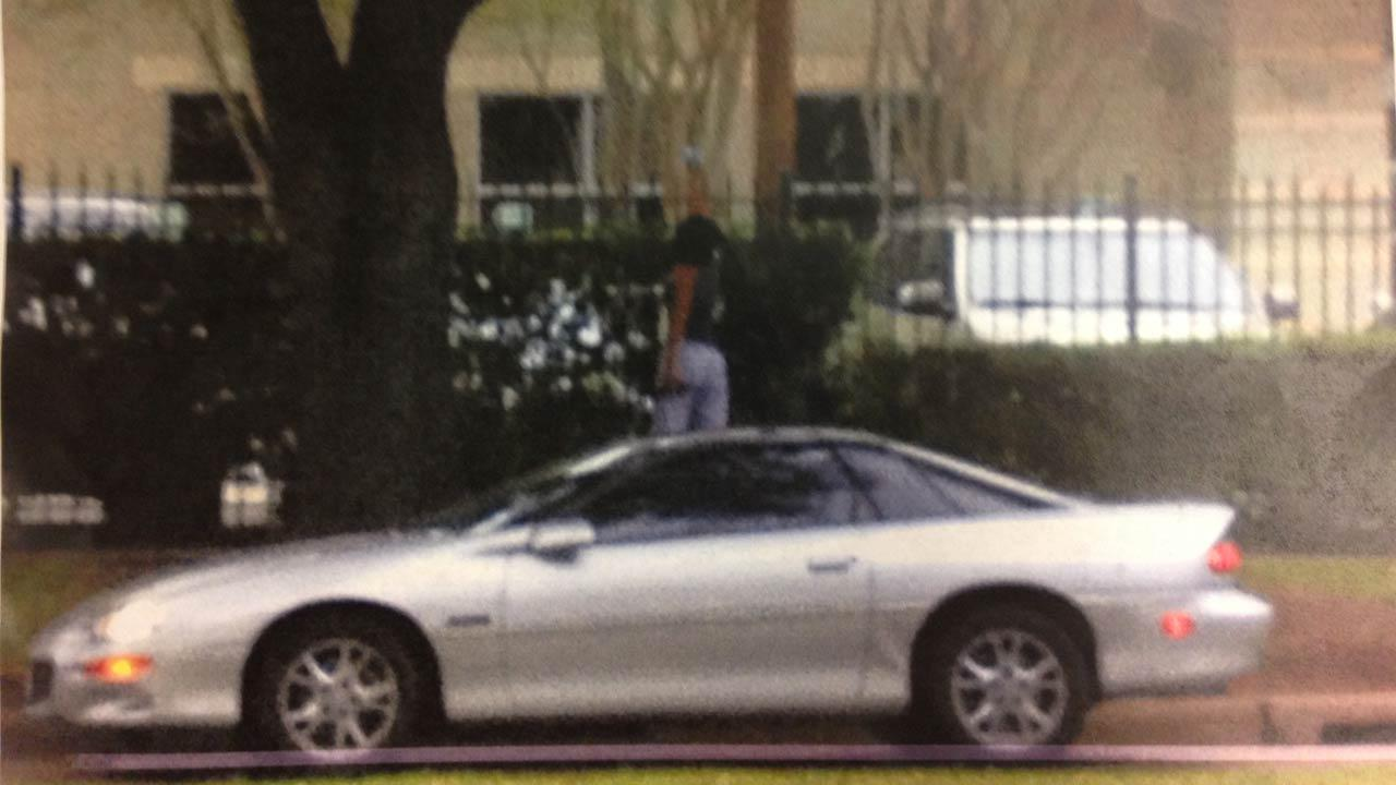 Police say a female suspect in this car allegedly opened fire at the KTRK-TV studios.
