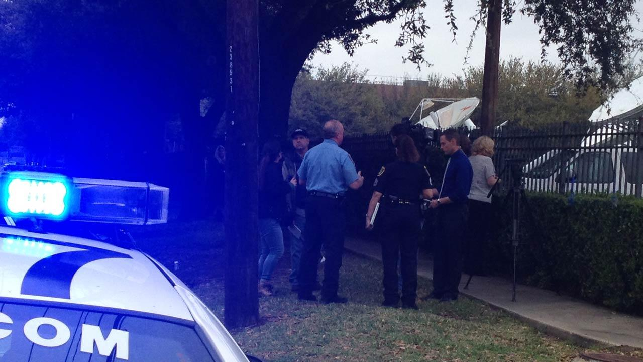 Police say a female suspect opened fire at the KTRK-TV studios.