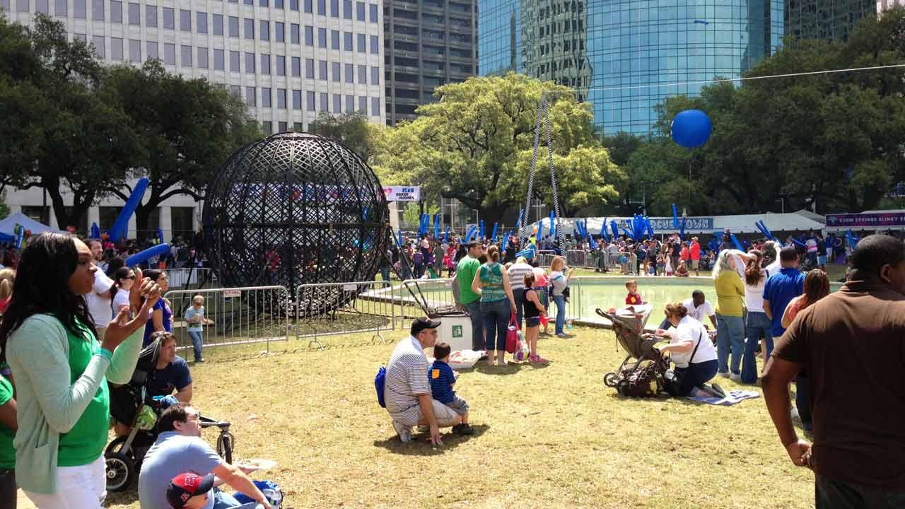 More than 50,000 people are expected to attend the Childrens Festival downtown near City Hall.  It runs from 10:30am to 6:30pm this weekend.Linh Nguyen