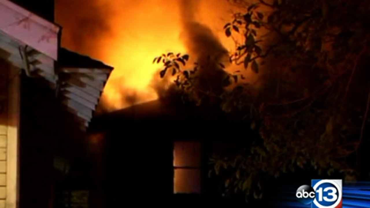 When one apartment in east Houston started to burn, the flames were so intense the fire spread to another apartment that wasnt even on the same street.
