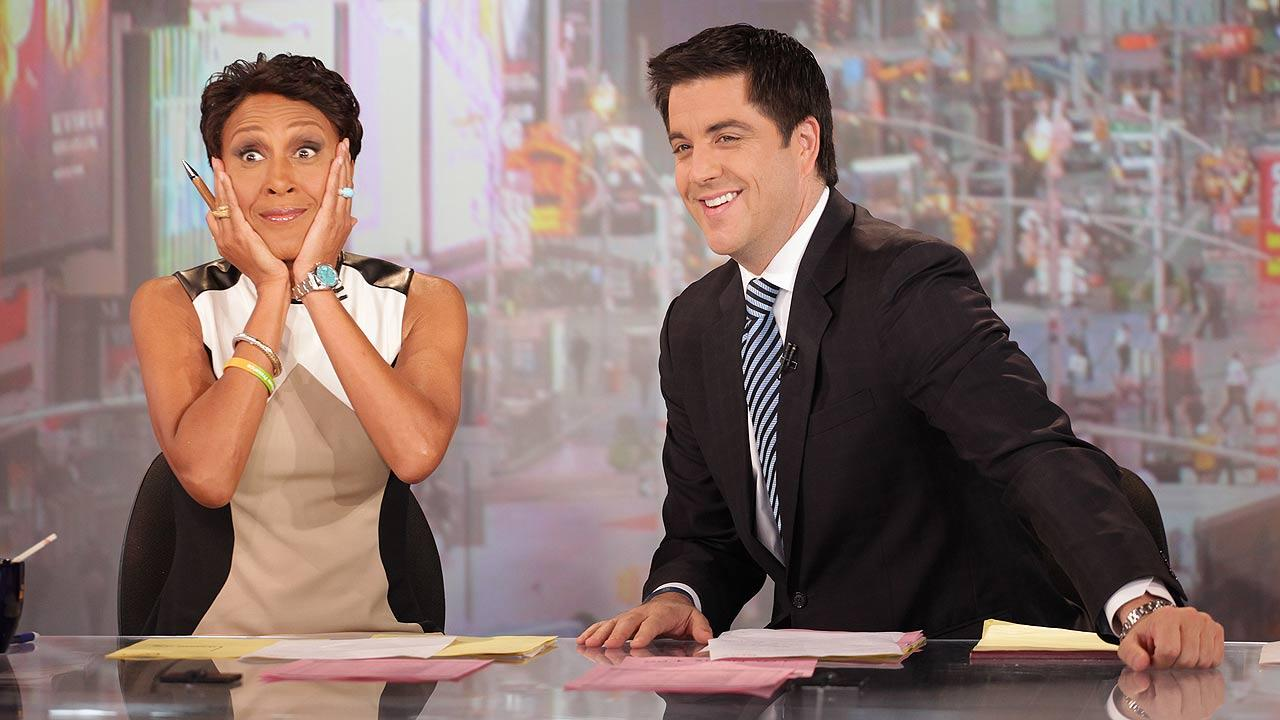 Robin Roberts, left, and co-host Josh Elliott