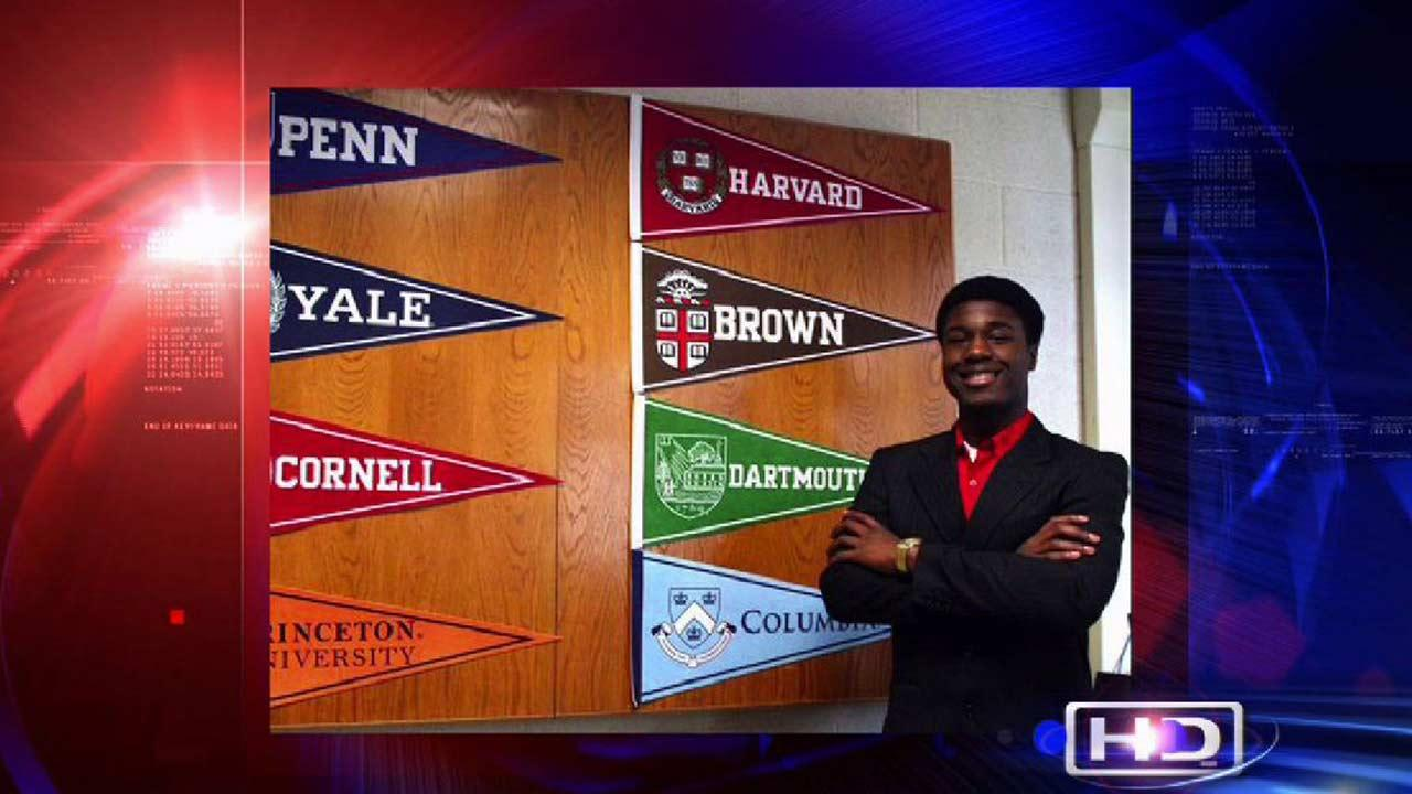 A senior from New York has a big challenge ahead of him -- deciding which of the 8 Ivy League universities he should attend this fall.
