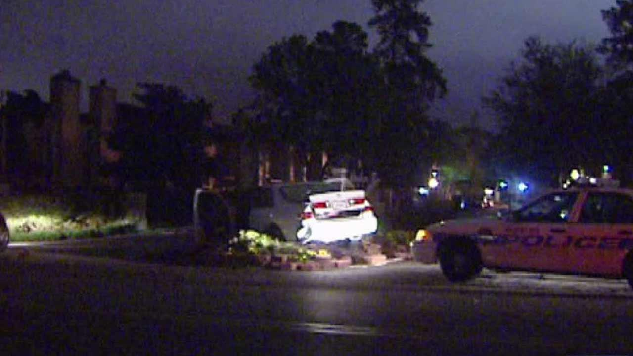 Authorities say a man who fled from what began as a drug bust, led police on a chase and struck an HPD squad car.