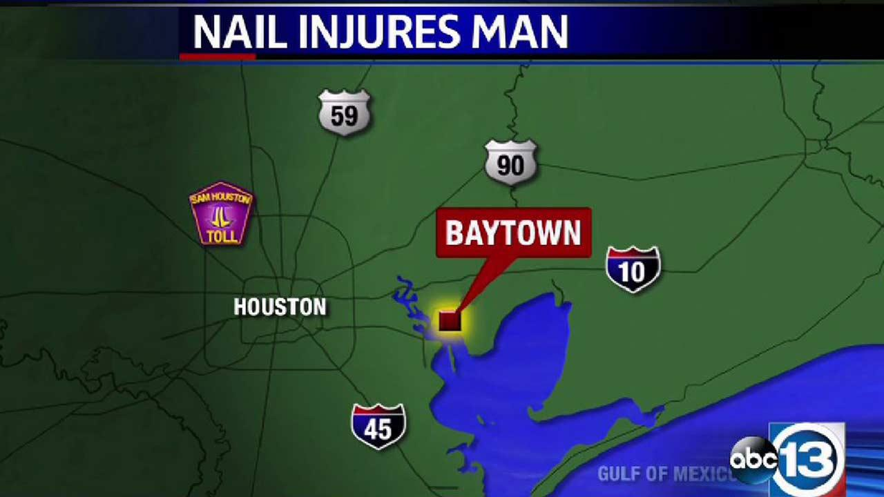 Baytown man critically injured after nail flies into his chest while mowing lawn