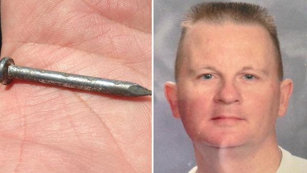 Freak accident leaves nail in man's chest
