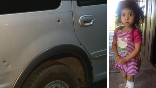 Girl, 3, grazed by bullet in apparent road rage shooting