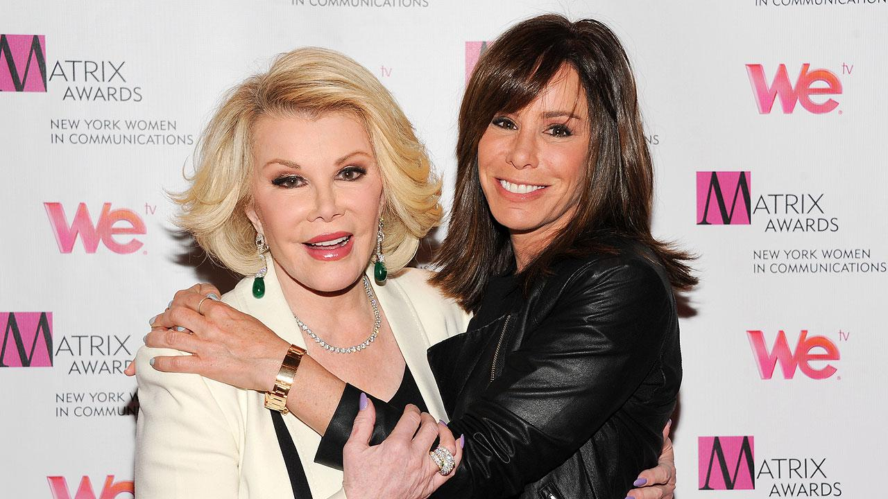 Television personalities Joan Rivers, left, and daughter Melissa Rivers