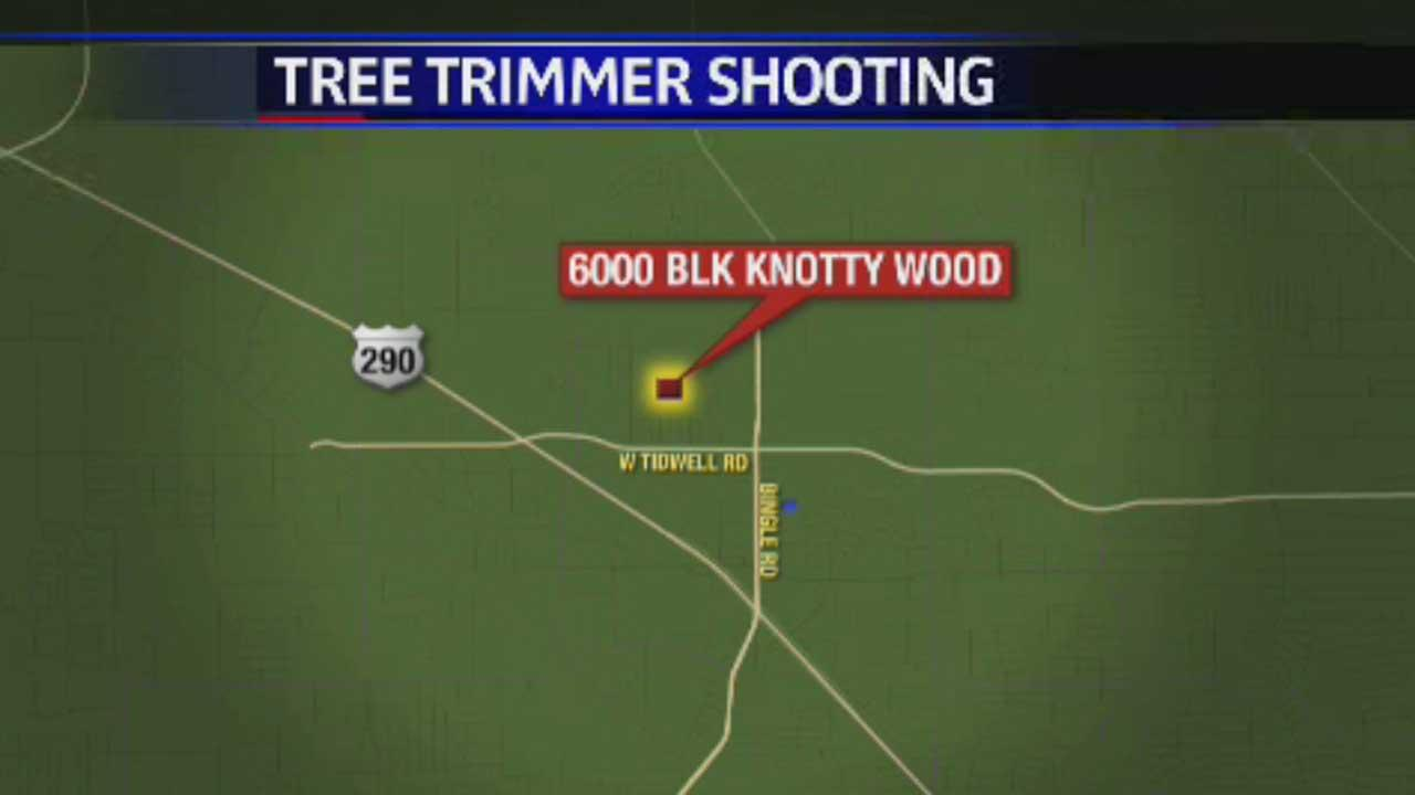 The shooting happened in the  6000 block of Knotty Wood just after 3pm Friday