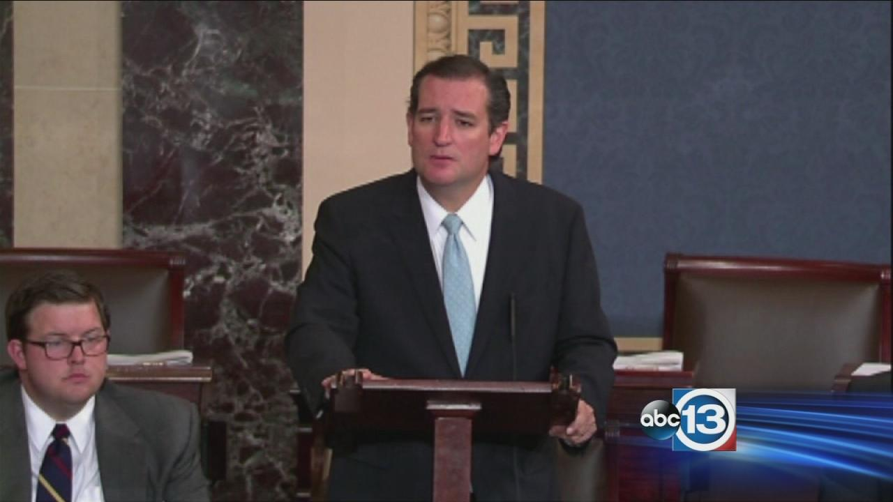 Cruz vows to speak until he cant against Obamacare