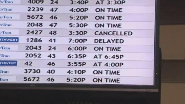 Flights to LA delayed, canceled