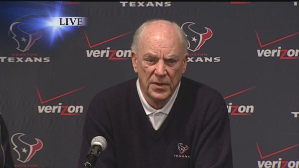 Bob McNair announces firing of Gary Kubiak