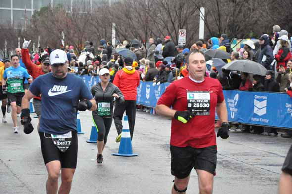 "<div class=""meta image-caption""><div class=""origin-logo origin-image ""><span></span></div><span class=""caption-text"">Tens of thousands of wet and cold runners crossed the finish line for the Chevron Houston Marathon and Aramco Houston Half Marathon on Sunday, January 13, 2013. (KTRK Photo)</span></div>"