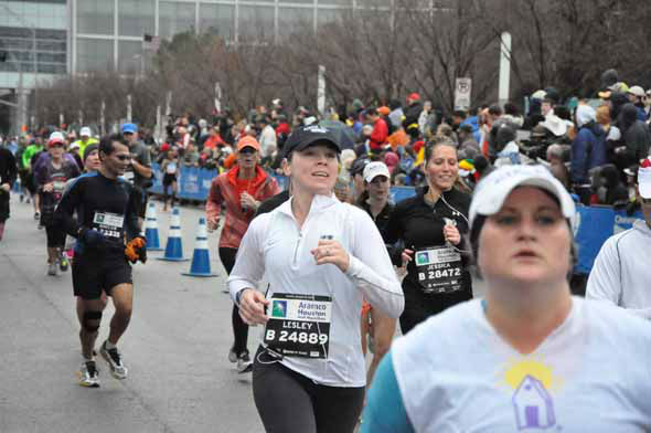 "<div class=""meta ""><span class=""caption-text "">Tens of thousands of wet and cold runners crossed the finish line for the Chevron Houston Marathon and Aramco Houston Half Marathon on Sunday, January 13, 2013. (KTRK Photo)</span></div>"