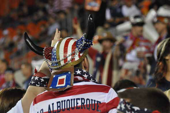 "<div class=""meta ""><span class=""caption-text "">Fans rallied behind the U.S. men's national soccer team as they battled Canada at BBVA Compass Stadium on Tuesday, January 29, 2013. (KTRK Photo)</span></div>"