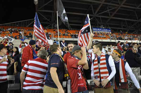 "<div class=""meta image-caption""><div class=""origin-logo origin-image ""><span></span></div><span class=""caption-text"">Fans rallied behind the U.S. men's national soccer team as they battled Canada at BBVA Compass Stadium on Tuesday, January 29, 2013. (KTRK Photo)</span></div>"