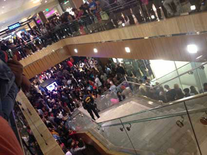 An iWitness user documents the massive crowds at the Houston Galleria. The overcrowding prompted officials to close down the mall early as a precaution  on Saturday.  If you were there, send your pictures or videos to news@abc13.com.