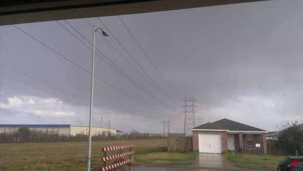 Images of the severe weather around the Houston area on Monday, February 18, 2013. You can email your photos/videos to news@abc13.com.