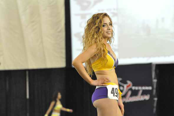 "<div class=""meta ""><span class=""caption-text "">More than 1,000 hopefuls showed off their stuff in the first round of the 2013 Houston Texans Cheerleader tryouts on Saturday night. (KTRK Photo)</span></div>"