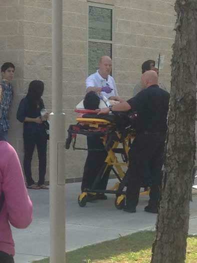 This is a viewer photo that came to us through our iWitness reports from the stabbing at Lone Star College Cy-Fair on Tuesday <span class=meta>(iWitness reports)</span>