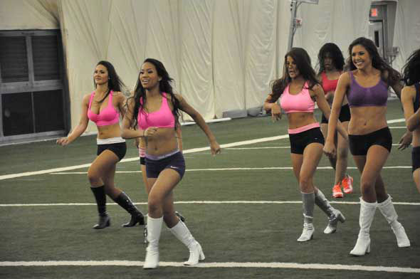 The 51 Houston Texans Cheerleader Finalists practiced for the first time inside the bubble at Reliant. Cast your vote at HoustonTexans.com! <span class=meta>(KTRK Photo)</span>