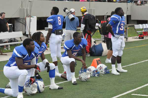 "<div class=""meta ""><span class=""caption-text "">The 2012 Bayou Bowl featured the top High School All-Star football players from Texas and Louisiana lining up against each other Saturday at Stallworth Stadium in Baytown, TX. (KTRK Photo)</span></div>"