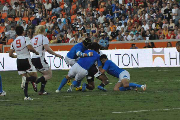 USA Rugby battled Italy in an international match at BBVA Compass Stadium on Saturday, June 23, 2012 <span class=meta>(KTRK Photo)</span>