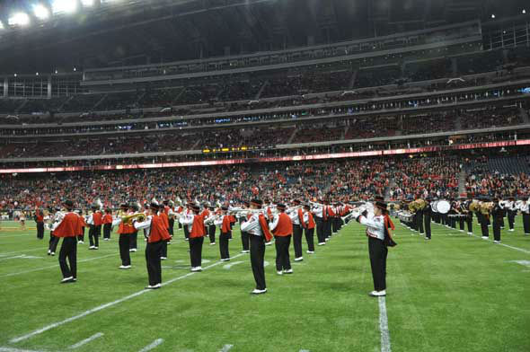 Players, fans, cheerleaders and band members from Texas Tech and the University of Minnesota descended on Reliant Stadium for the Meineke Car Care Bowl of Texas on Friday, December 28, 2012. <span class=meta>(KTRK Photo)</span>