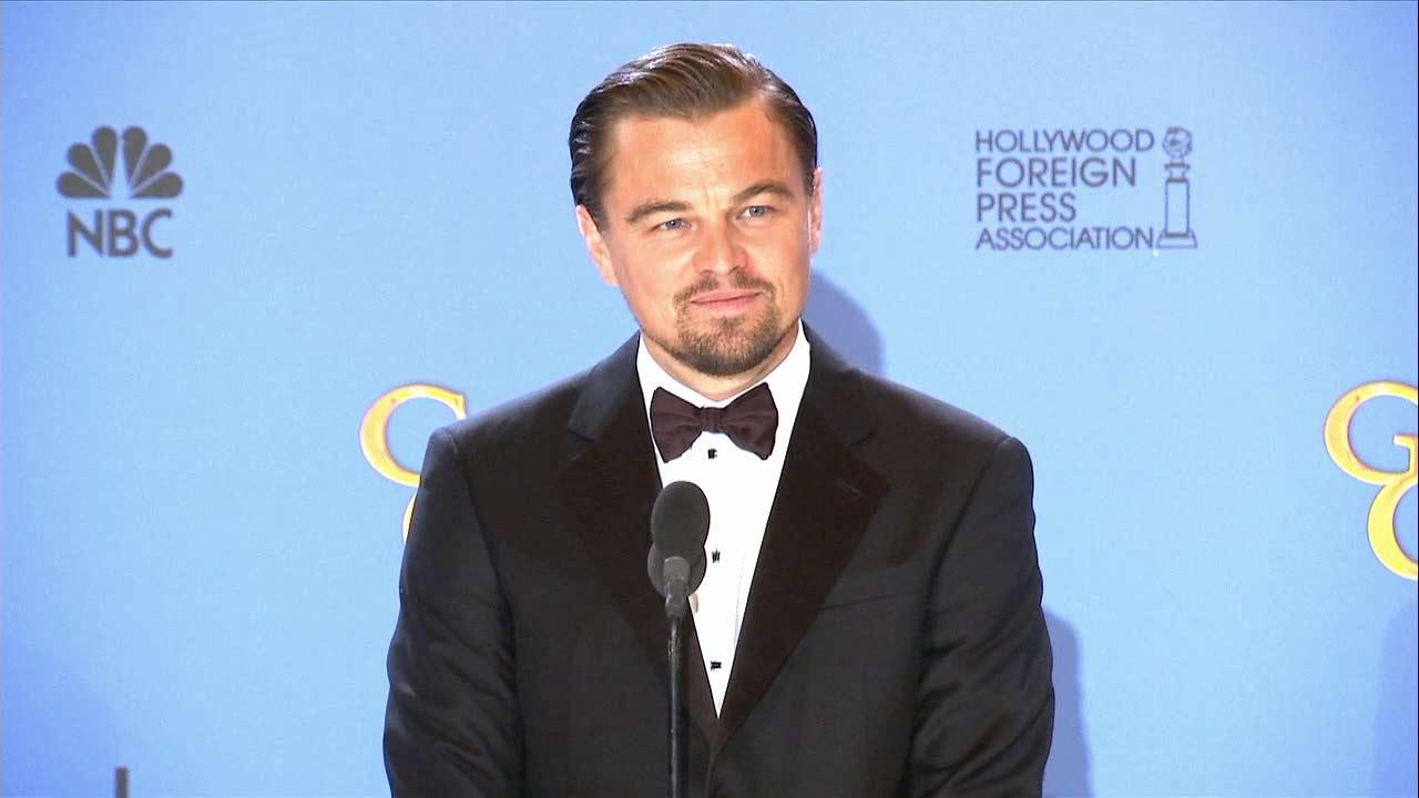 Leonardo DiCaprio arrives at the 19th annual Critics Choice Movie Awards at the Barker Hangar on Thursday, Jan. 16, 2014, in Santa Monica, Calif.Matt Sayles/Invision